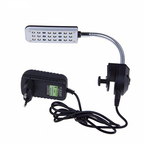 UEETEK 24 LED Clip Aquarium Fisch Tank Lichter Kit für Fisch Tanks mit EU-Stecker