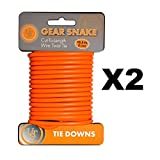 Ultimate Survival Technologies Gear Snake Orange Bendable Wire Tie-Down (2-Pack)
