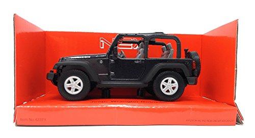 Welly DieCast metall Modellauto 1:36-39 Jeep Wrangler Rubicon schwarz offenes Dach neu und box