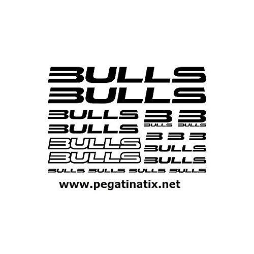 SUPERSTICKI Bulls Sponsorset 283 ca 30cm Motorrad Bike Fahrrad Mountain Aufkleber Bike Auto Racing Tuning aus Hochleistungsfolie Aufkleber Autoaufkleber Tuningaufkleber Hochleistungsfolie f