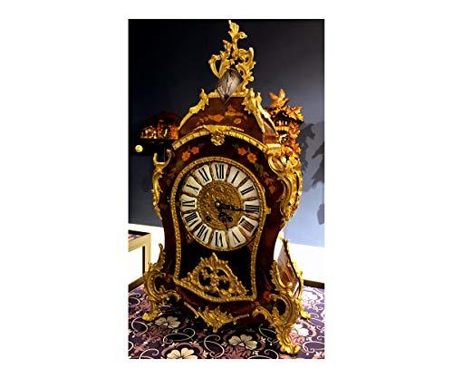 RELOJESDECO Reloj de sobremesa reproducción Luis XV en Oro 14kl, 57cm Espectacular