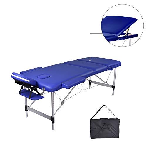 MC Dear Mesa de Masaje de Aluminio 3 Zonas Altura Ajustable Plegable...