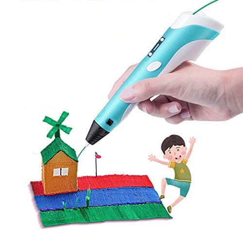 JDYDDSK Advanced 3D Printing Pen with Display - 3D Printing Pen with Display - Includes 3D Pen, 5 meters PLA Filament, Copy painting + Paper card, and Pen Holder, Toys Gift for Kids