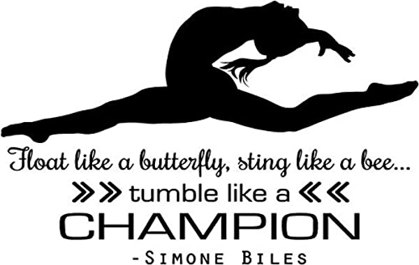 Simone Biles Gymnastics Quote Girl S Vinyl Wall Decal Decor USA Olympics Gymnast Decoration 20 X14 Biles 2