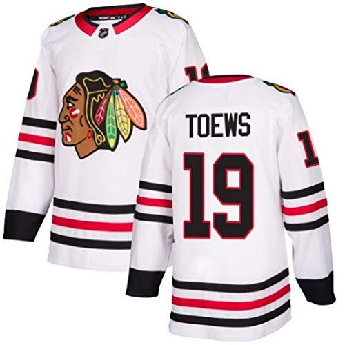 HZIH NHL Männer Sweatshirts Breath Eishockey Trikots Sports Trainingskleidung Langarm-T-Shirt mit gesticktem Logo Toews # 19,M
