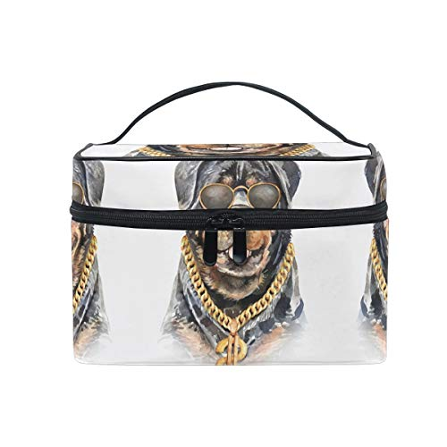 Dog Watercolor Cool Pug Cosmetic Bag Organizer Zipper Makeup Bags Pouch Toiletry Case for Girl Women