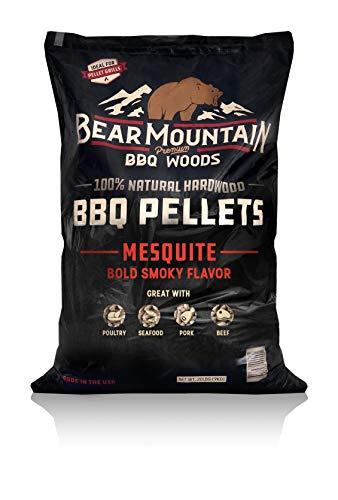 BEAR MOUNTAIN Premium BBQ WOODS 100% All-Natural Hardwood Pellets - Mesquite (20 lb. Bag) Perfect...