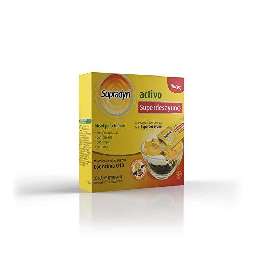 Supradyn Activo Superdesayuno Multivitaminas para Todos con Vitaminas, Minerales y Coenzima Q10, una Ayuda para Mantener la Energía y Vitalidad durante Todo el Día, 20 Sobres Granulados