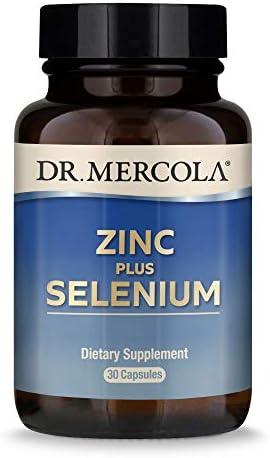 Dr. Mercola Zinc Plus Selenium Dietary Supplement, 30 Servings (30 Capsules), Supports Immune Health, Non GMO, Soy Free, Gluten Free