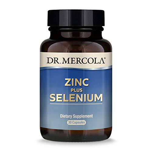 Dr. Mercola Zinc Plus Selenium Dietary Supplement, 30 Servings (30 Capsules), Supports Immune Health, Non GMO, Soy Free, Gluten Free