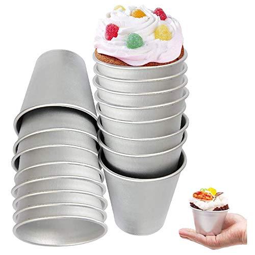 ZNEU Molde para Pasteles Reutilizable Antiadherentes Pudín Moldes DIY Aluminio Cocción Pudding...