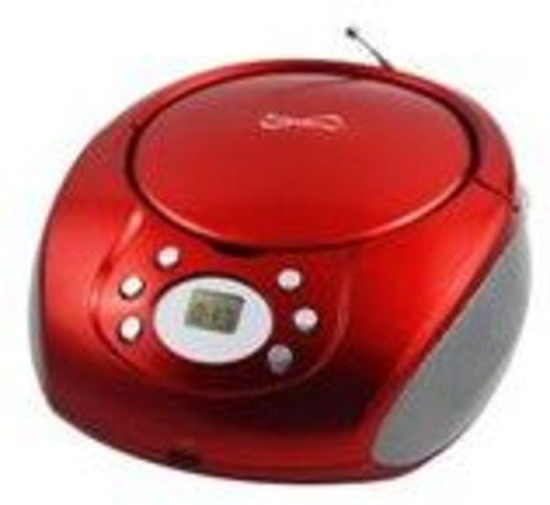 Supersonic SC505RD CD/MP3 Boombox with AM/FM Radio