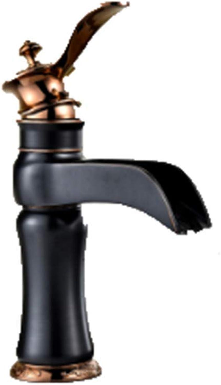 CTREKE Becken Wasserhahn Spüle Mischer Bad Wasserhahn hei und kalt Bad E