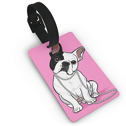 Targhette per Valigia per Atterraggio Bulldog Francese Accessori per il Viaggio Etichette per il Nome Del Bagaglio