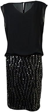 GUESS LA Women's Adela Sequined Blouson Dress