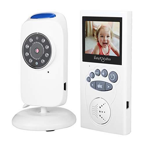 2,4-inch LCD-video-babyfoon, tweeweg audio, timer, automatische luminantiereductie, muziek-babyfoon (EU-stekker)