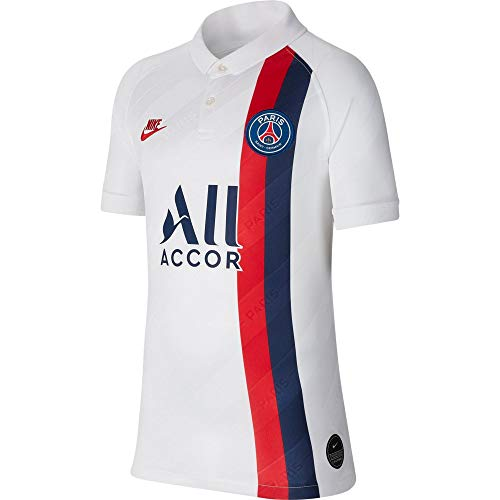Nike 2019-20 PSG Youth Third Jersey - White-Red-Navy YL