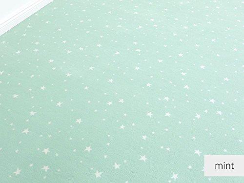 HEVO Die Vorwerk Bijou Kollektion - Bijou Stars Teppichboden in 5 Farben Mustermaterial - Inkl. 2% Bestellgutschein - Mint