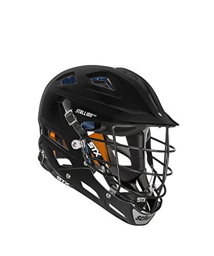 STX Lacrosse Lacrosse Stallion 600 Lacrosse Helmet, Black, Large