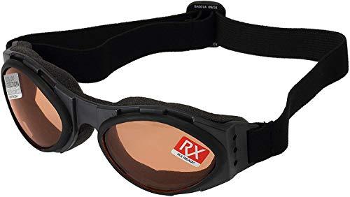 Bobster T4583 Bugeye Goggles, Black Frame/Amber Lens
