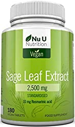✔ DOUBLE STRENGTH - We have packed 2500mg of native Italian Sage leaf per tablet. This is over twice the amount offered by other brands who typically only offer 1000mg per serving. All our products are made in the UK to current GMP standards. We ensu...