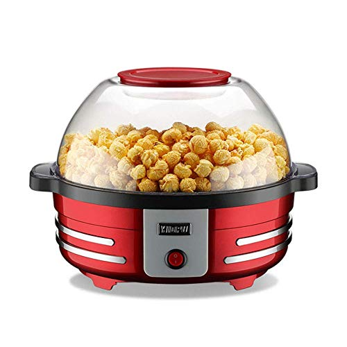 Máquina multifunción de palomitas de maíz pequeña de 5L para el hogar, máquina de palomitas de maíz sin grasa eléctrica automática, máquina para hornear esférica de 850W, cocina inteligente desmontabl