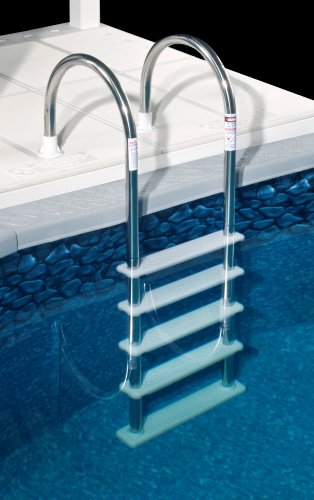 Blue Wave NE122SS Stainless Steel In-Pool Ladder,Silver/white