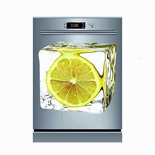 Pegatinas Vinilo para Lavavajillas limón   Varias Medidas 50x48cm   Adhesivo Resistente de Fácil Aplicación y Troquelado   Pegatina Adhesiva Decorativa de Diseño Elegante