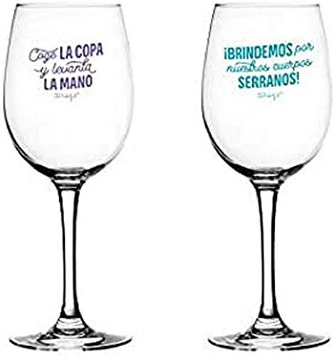 Mr. Wonderful Set de 2 Copas de Vino para brindar por Nuestra...