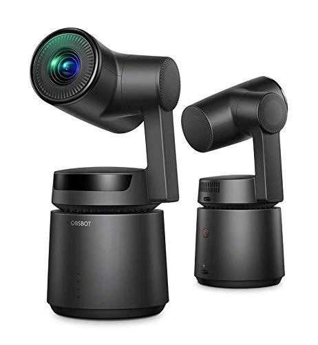 [国内正規品] OBSBOT Tail 自動追尾 AIカメラ 自撮りVlog 1850mAhバッテリー内蔵 アクションカメラ 高画質 三軸ジンバル内蔵 60fps ジェスチャーで操作可能 充電電源アダプター付属 日本国内専用 (Black)