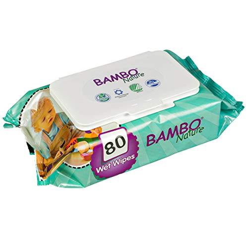 ABENA GmbH BAMBO Nature, Feuchtpflegetücher, 80 Stück