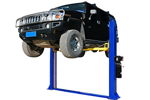 APlusLift HW-10KBP 10,000LB Two Post Floor Plate Auto Hoist Car Lift with Combo (Symmetric and Asymmetric) Arms / 24 Months Parts Warranty