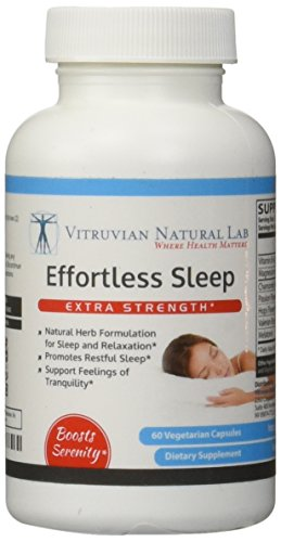 Vitruvian Natural Lab - Effortless Sleep - Natural Herb Formulation for Sleep and Relaxation - Promotes Restful Sleep - Support Feelings of Tranquillity