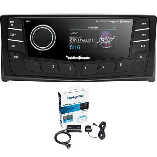 """Rockford Fosgate PMX-5CAN Punch Marine AM/FM/WB Digital Media Receiver 2.7"""" Display w/CANbus Bundled w/SiriusXM SXV300V1 Tuner"""