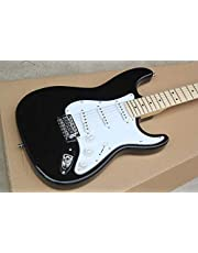 Factory Store Black Eric Clapton ST Signature Maple Fretboard 6 String Chrome Hardware Electric Guitar Guitarra Makfacp