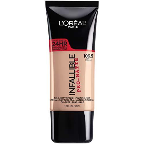 L'Oreal Paris Makeup Infallible Pro-Matte Liquid Longwear Foundation, Shell 106.5, 1 fl. oz.