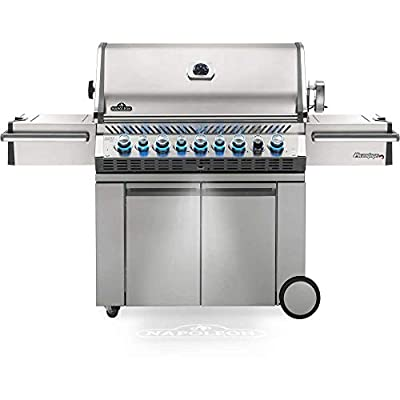 Napoleon PRO665RSIBNSS-3 Prestige PRO 665 RSIB Natural Gas Grill, sq.in. + Infrared Side and Rear Burners, Stainless Steel