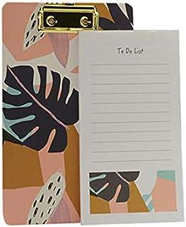 Mumuso 3 Pack Conjunto DE Notas Y Tabla con Pinza Diseno DE Colores