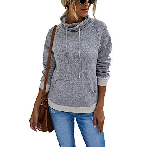 ZFQQ Otoño/Invierno Moda Mujer Color sólido Cuello Alto más suéter de Terciopelo