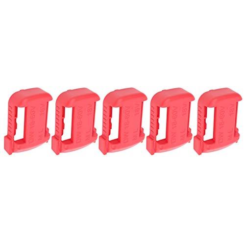 Gaeirt Soporte de fijación de batería de 5 uds, Estante de Almacenamiento de batería de Litio, Estante de Almacenamiento de batería, para baterías Milwaukee de 18 V(Red)