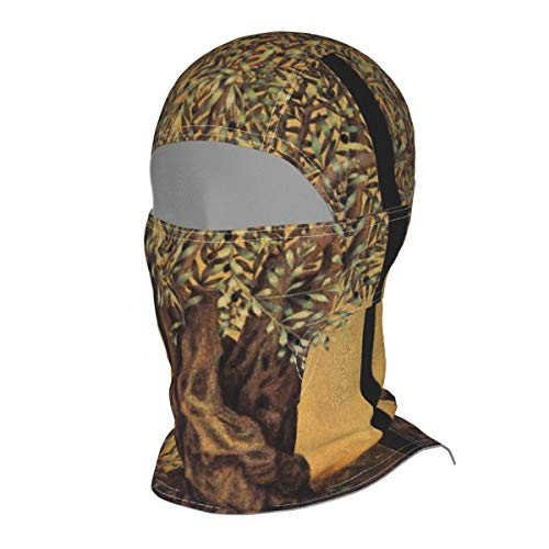 EYFlife Triptych of an Old Mature Olive Tree Winter Ski Mask Balaclava Hood - Wind-Resistant Face Mask