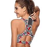 LLDS Sujetador Deportivo Curve Top para Mujer con compresión de Bolsillo para teléfono Push Up Underwear Top Gym Femenino Fitness Fitness Yoga BH Sport Bra, 05, XL