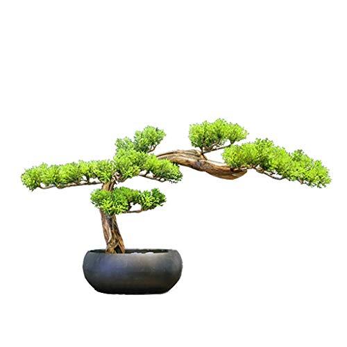 Kunstpflanze Begrüßung Simulation Baum Kiefer Künstliche Bonsai, New Chinese Zen Ornament Kleiner Topf Kiefer Wohnzimmer Veranda Tee Tischdekoration Ornamente Künstliche Topfpflanzen Kunstbaum