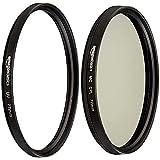 Amazon Basics - Filtro polarizador Circular - 77mm + Filtro de protección UV - 77mm