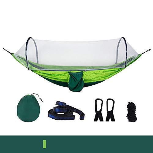RongDuosi Kan 250KG Kleur Bijpassende Nylon Spinning Parachute Doek Hangmat Automatische Opening En Sluitingsnetten Familie Reizen Dubbele Swing Outdoor Uitrusting Zwembed
