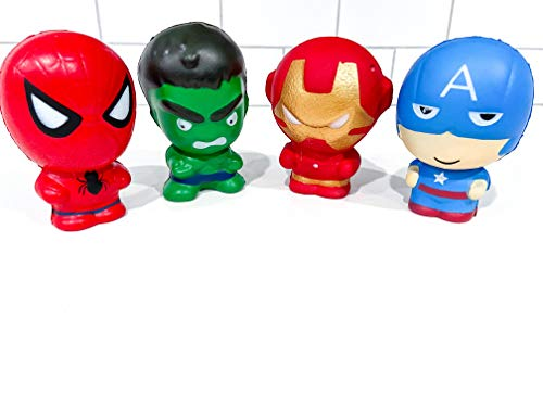 Marvel Superhero Avengers Toys Iron Man Captain America The Hulk and Spiderman Jumbo squishies Slow Rising Toys Squishies Soft Slow Rising Squeeze Toys Kids Toys Party Decorations by So Cal Pro