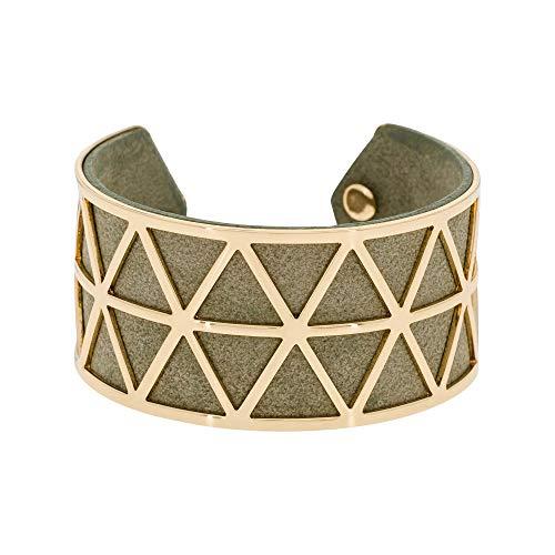 Mes-bijoux.fr armband Stockholm afwerking goud kunstleer grijs