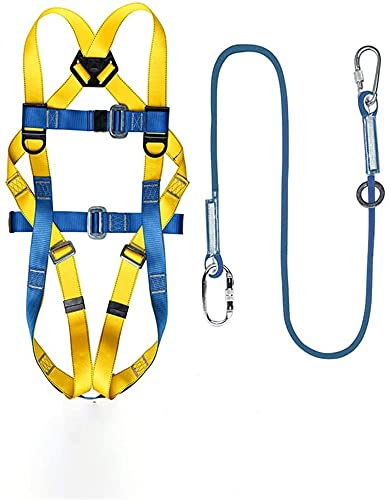MARHD Arnés de construcción, Equipo de protección Personal, con cordón de Amortiguador Incorporado, para Trabajos aéreos (Color : Single Small Hook Set)