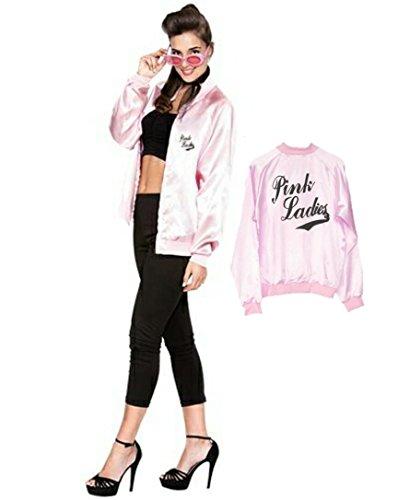 EUROCARNAVALES Disfraz de Pink Lady con Serigrafia - Mujer, S