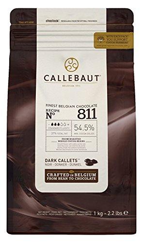 Callebaut - Recipe n°811 - dunkle Schokoladenkuvertüre Schokoladenchips/Callets 1 kg